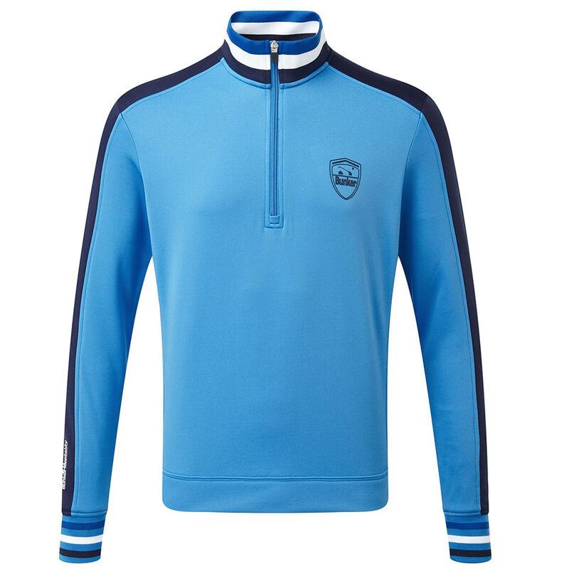 Bunker Mentality Sports Stripe 14 Zip Windshirt Male Bunker Blue XXL