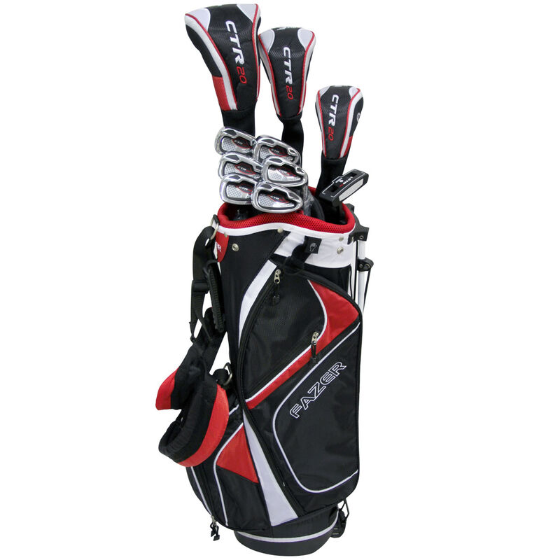 Fazer CTR20 Package Set, Right Hand, Golf Stand Bag, Black/Red