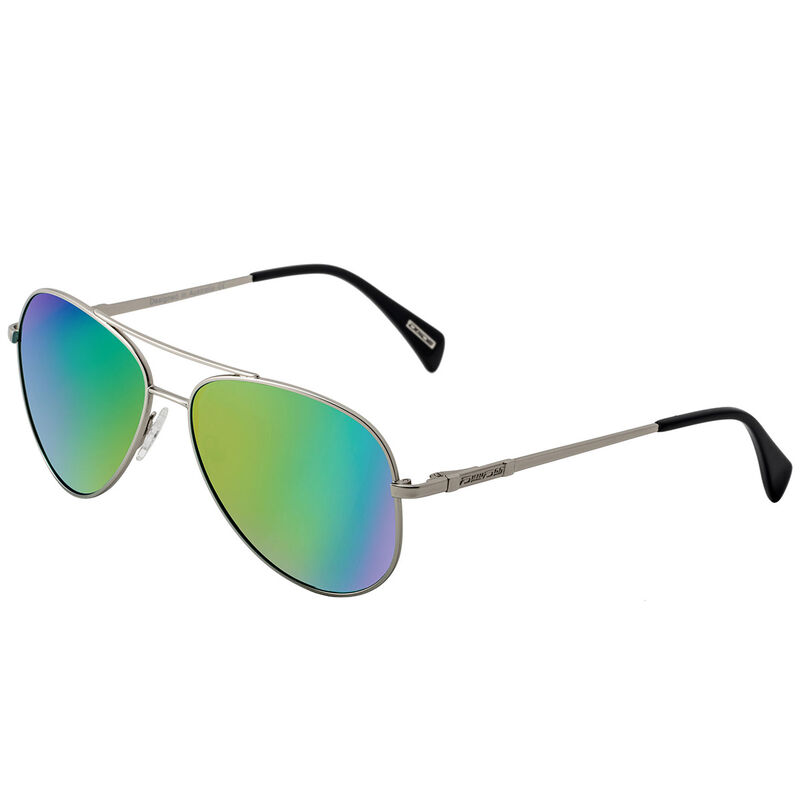 Dirty Dog Maverick Polarised Sunglasses Male SilverGreen
