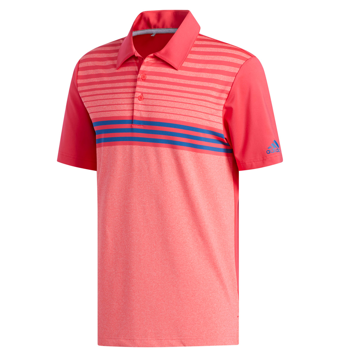428e6578 adidas Golf Ultimate 365 3-Stripe Heather Polo Shirt | Online Golf