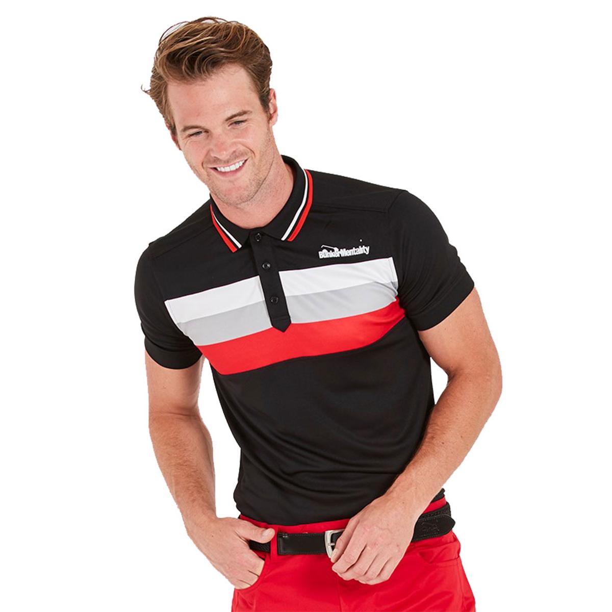 b6fb9ed0 Bunker Mentality Triple Stripe Tech CMAX Polo Shirt   Online Golf