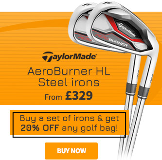 TaylorMade AeroBurner HL Steel Irons -  Buy a set of irons & get 20% off any golf bag!
