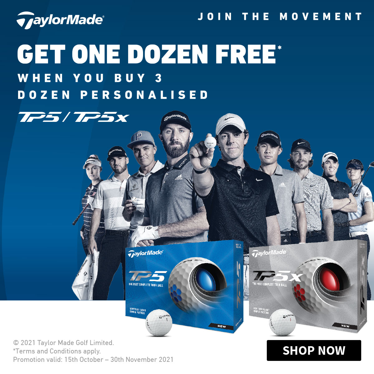 TaylorMade TP5 Balls 4 for 3