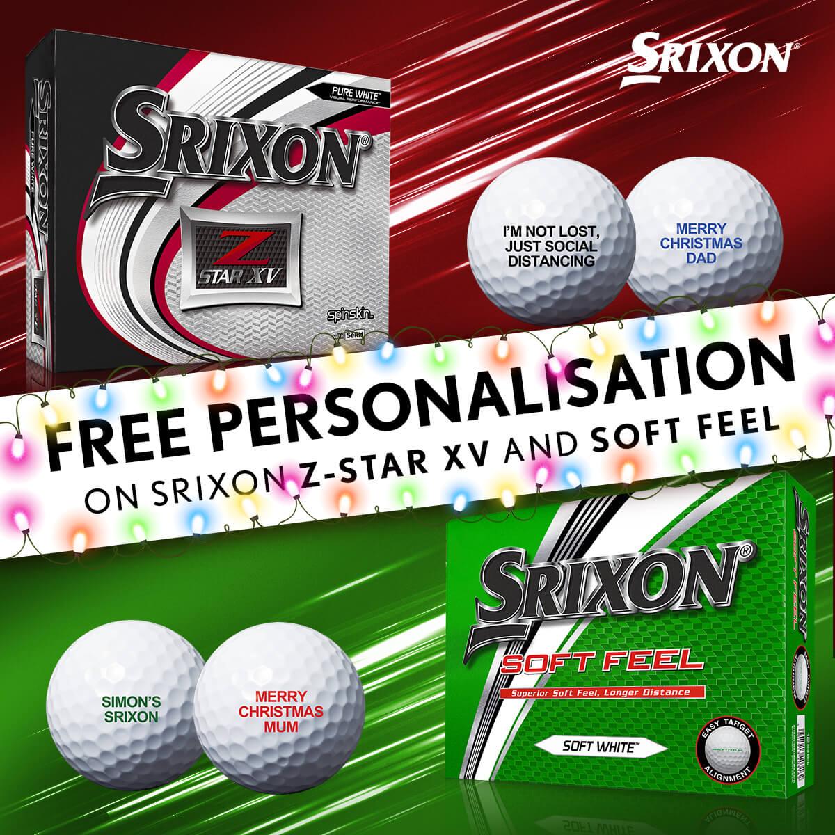 SRIXON FREE PERSONALISATION XMAS 2020