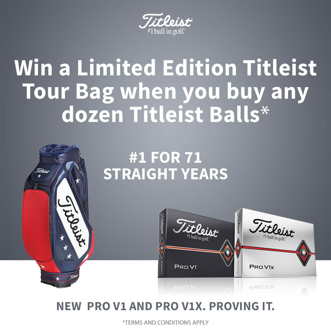 TITLEIST LIMITED EDITION US OPEN TOUR BAG