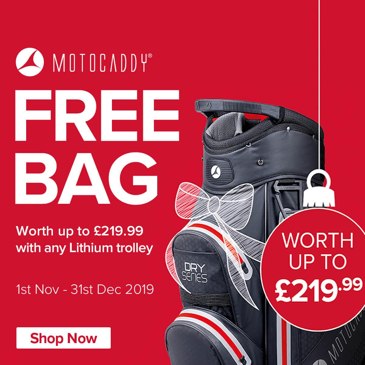 Motocaddy Free Bag Promotion