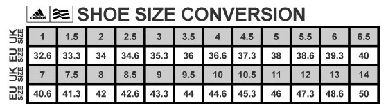 Adidas Shoes Size Guide